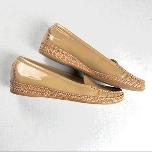 Stuart Weitzman Tan Patent Leather Flat shoe